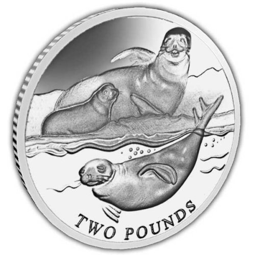 British Antarctic Territory 2017 Crabeater Seal Uncirculated Cupro Nickel Coin