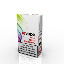 88 Vape E-Liquid Nicotine 16mg Fresh Blueberry 10ML