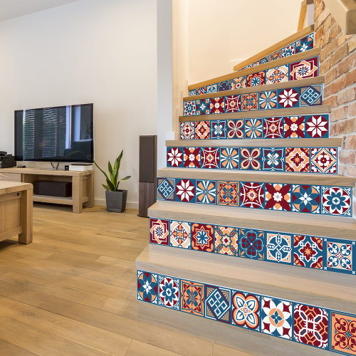 Walplus Tile Westminster Wall Sticker Decal (Size: 15m x 15cm @ 24pcs)