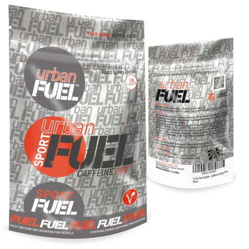 Urban Fuel Caffeine Tablets - Pure Caffeine Energy Tablets - Strong Caffeine Pills For Energy Boost & Alertness