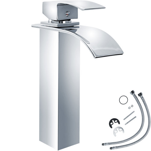 Water faucet waterfall curved high