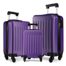 KONO Luggage Suitcase Travel Trolley Case Bag 19 24 28 Inch Set Hard Shell ABS 4 Wheels Spinner Purple