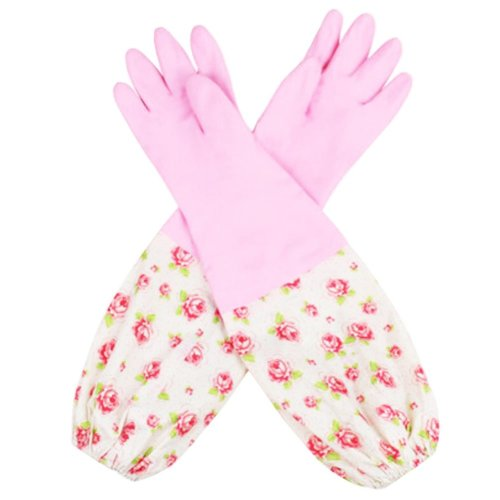 Waterproof Gloves Velvet Warm Cleaning Gloves Dish Washing Gloves -05