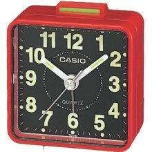 Casio TQ140/4 Beep Alarm Clock  Red/ Black