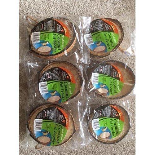Wild Bird Feeder Half Coconuts - Pack of 6