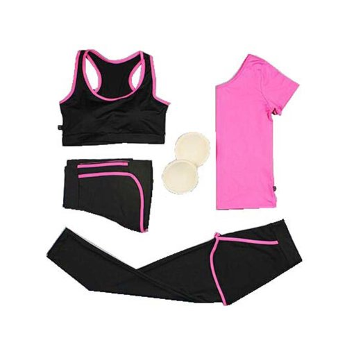 Women's 4 Pieces Tracksuits Jogging Outfits/ Yoga Suit/ Fitness Training Set