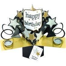 Suki Gifts International Pop Up Card JF Baby Girl 13 x 21 x 19 cm Multi-Colour