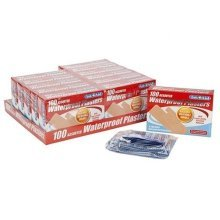 Assorted Ventialted Platers -  100 waterproof plasters pack assorted aid wounds cuts x washable breathable sterile smalllarge bandfirst
