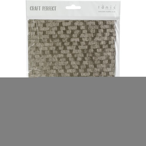 Craft Perfect Handcrafted Cotton Papers A4 5/Pkg-Pewter Slates
