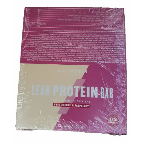 My Protein Lean Protein Bar (12 x 45g) (White Chocolate and Raspberry)