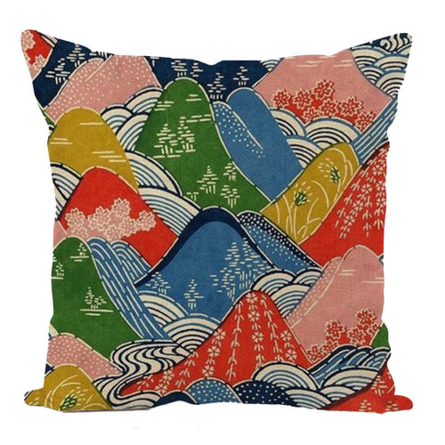 Decorative Linen Square Throw Pillow Japanese-style Cushion 45 X 45 CM-A1