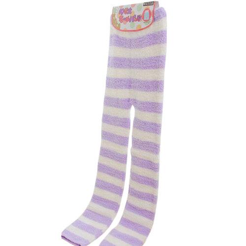 Casual Warm Sleepwear Elastic Bottom Pajamas Pants Coral Cashmere Pants-A4