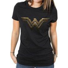 XXL Ladies Black & Gold Wonder Women T Shirt