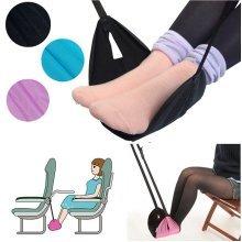 Portable Travel Legs Foot Rest Pillow Hammock Footrest Helps Cushion