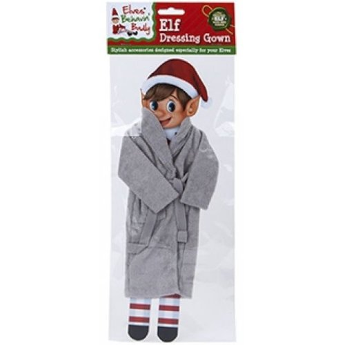 Elves Behavin Badly - Elf Nightware Dressing Gown - Grey