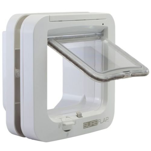 SureFlap Microchip Cat Flap 21cm | White 5-Way Locking Cat Door