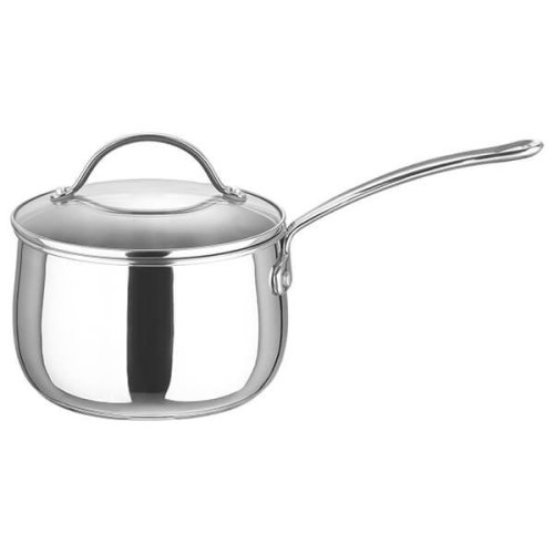 Prestige 18cm Stainless Steel Bell Saucepan With Glass Lid - Silver
