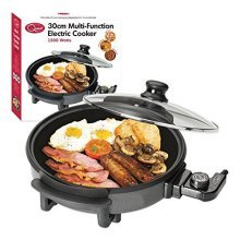 Quest 35410 Benross Multi-Function Electric Cooker Pan with Lid, 1500 W, 30 Cm