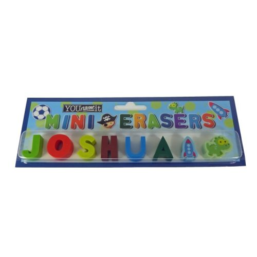 Childrens Mini Erasers - Joshua
