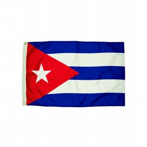 Flagzone FZ-3482051 3x5 Nylon Cuba Flag Heading