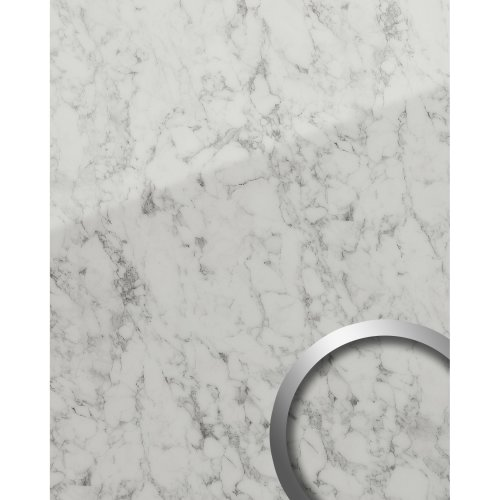 WallFace 19345 MARBLE WHITE Decor Panel marble look glossy white 2.6 sqm