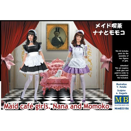 Mas35186 - Masterbox 1:35 - Maid Cafe Girls, Nana and Momoko