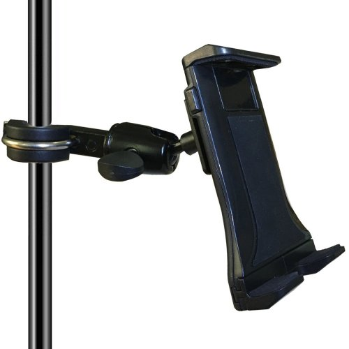 Tencro 4-12.5 Inches Music/Microphone Stand Tablet Holder Aluminum Alloy Phone Cradle Mount for Apple iPhone iPad, Google Nexus, Galaxy Tab and Any...
