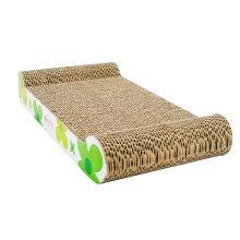Sun Flower Series Corrugated Paper Cat Scratching Pad/Board,Cat Bed,GREEN