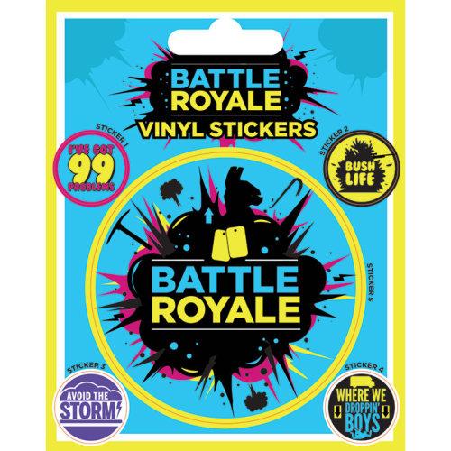 FORTNITE Battle Royale Vinyl Sticker Sheet of 5 Individual Stickers