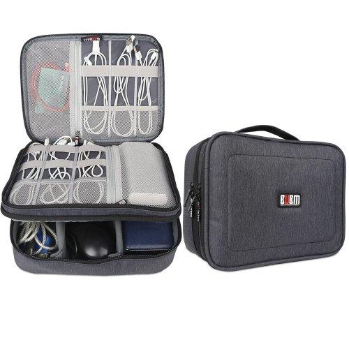BUBM Travel Cable Bag, Ultra-compact Electronics Gadget Organiser Case