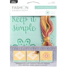 "Bucilla Fashion Embroidery Template Kit 5""X6""-Keep It Simple"