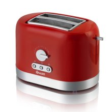 Swan 2 Slice Toaster with Browning Control - Red (Model No. ST10020REDN)