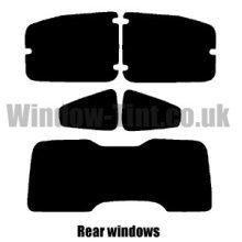 Pre cut window tint - Peugeot Bipper Tepee - 2008 and newer - Rear windows