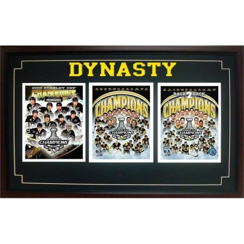 Encore Select 299-14 18 x 30 in. 2017 Stanley Cup Champion, Pittsburgh Penguins - Triple Frame