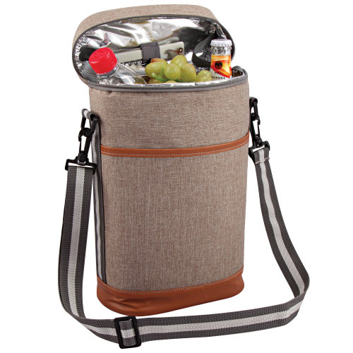 GEEZY Insulated Padded Wine Bottle Cooler Bag with Bottle Opener