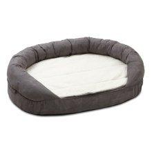 Karlie Orthopaedic Oval Pet Bed Grey