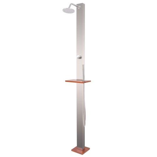 vidaXL Outdoor Shower Brushed Stainless Steel 210 cm Garden Showering Stand