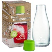 Glass Bottle 0.3 L by Neuronade® - Borosilicate Glass & 100% BPA Free - award-winning Retap Design, with Lid (Green)