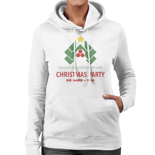 Die Hard Nakatomi Corp Christmas Party Women's Hooded Sweatshirt