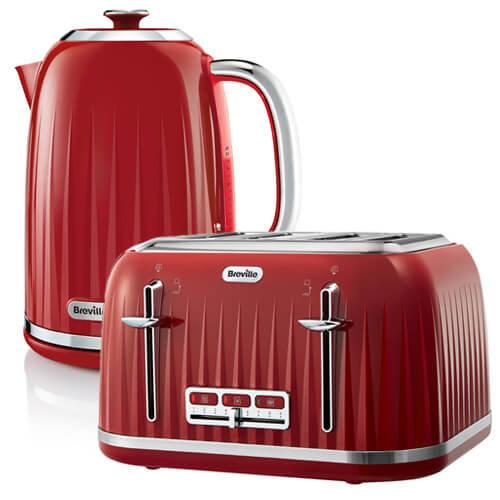 Breville Impressions Kettle & Toaster Set Red