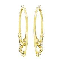 Swarovski Gaze Hoop Pierced Earrings - Gold Tone - 5279796