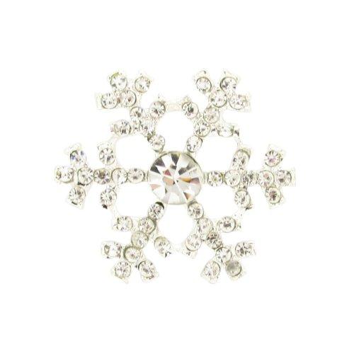 10 x Beautiful Snowflake Diamante Embellishments Crystal Rhinestones Ideal For Christmas Decoration Cards & Winters Weddings