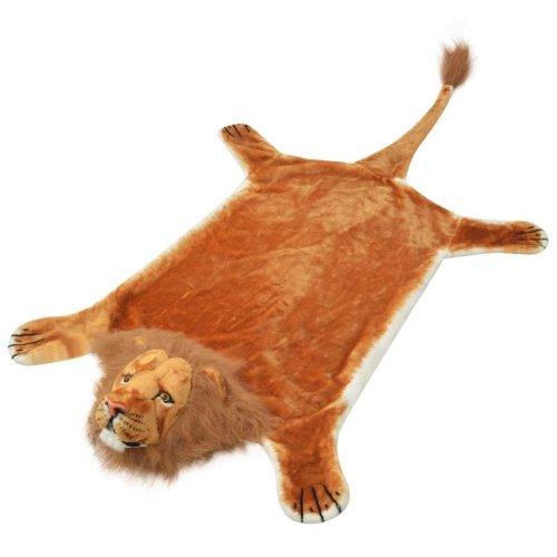 vidaXL Lion Carpet Plush 205 cm Brown