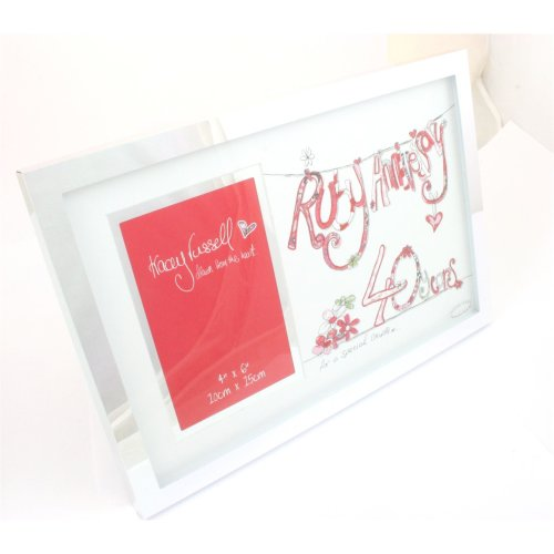 Tracey Russell Photo Frame & Glitter Print Mount - 40th Anniversary