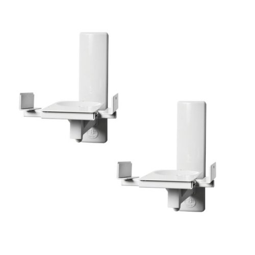B-tech BT77 Ultragrip Clamping Speaker Mount ) Pair (white)