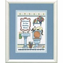 D06627 - Dimensions Stamped X Stitch - Mini -  Reading Room Welcome