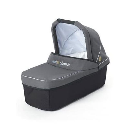 Out n About Nipper v3 Carrycot Steel Grey