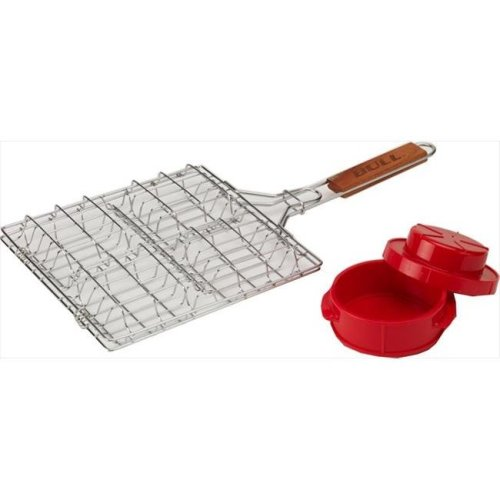 Stuff-A-Burger 2 pieces Set, Stainless steel Basket and Press