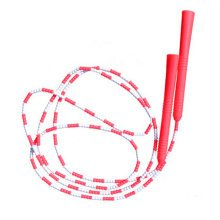 Fitness Training  Lightweight Easily Adjustable Jump Rope,Red&White
