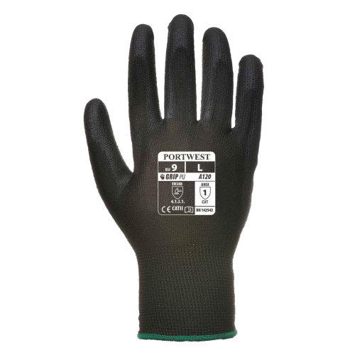 sUw Mens Vending 13 Gauge Lined PU Palm Gloves (1 Pair Pack)